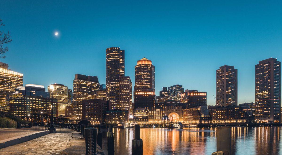 Boston city by night
