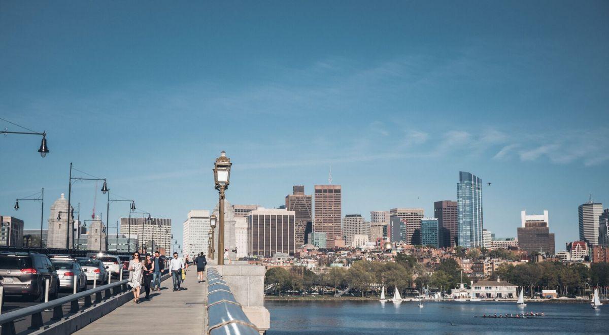 Boston pedestrian bridge