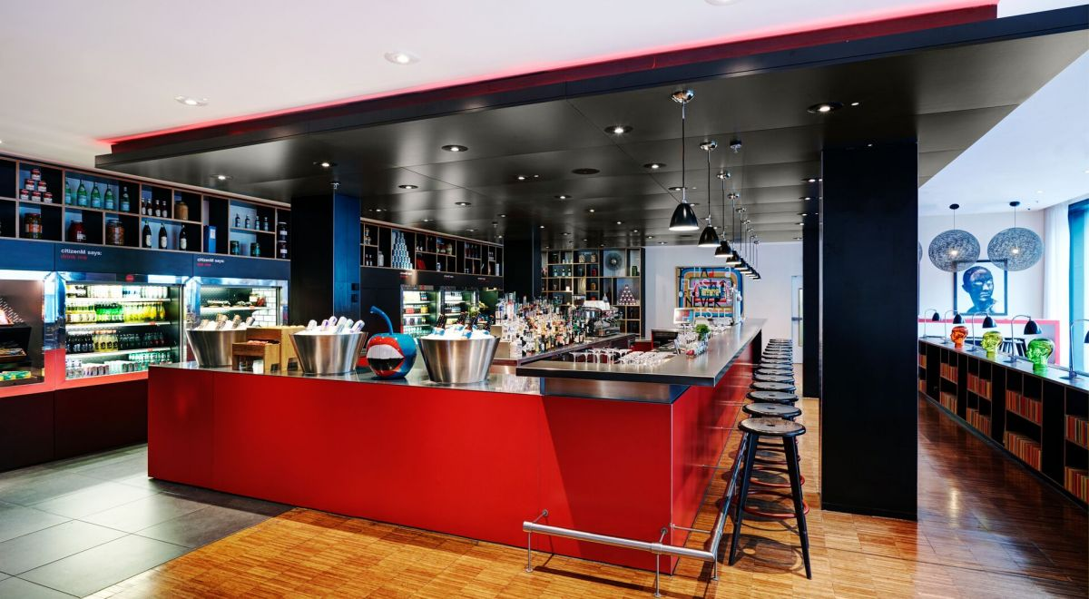 citizenM Glasgow hotel - canteenM