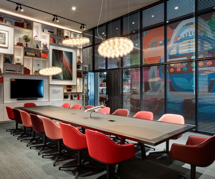 societyM meeting room 3 at citizenM Seattle hotel